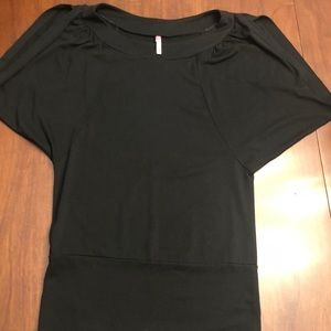 Black t-shirt with arm slit